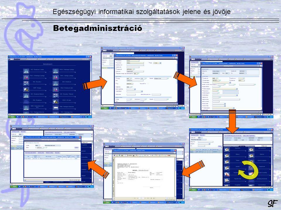 Egészségügyi informatikai szolgáltatások jelene és jövője Betegadminisztráció