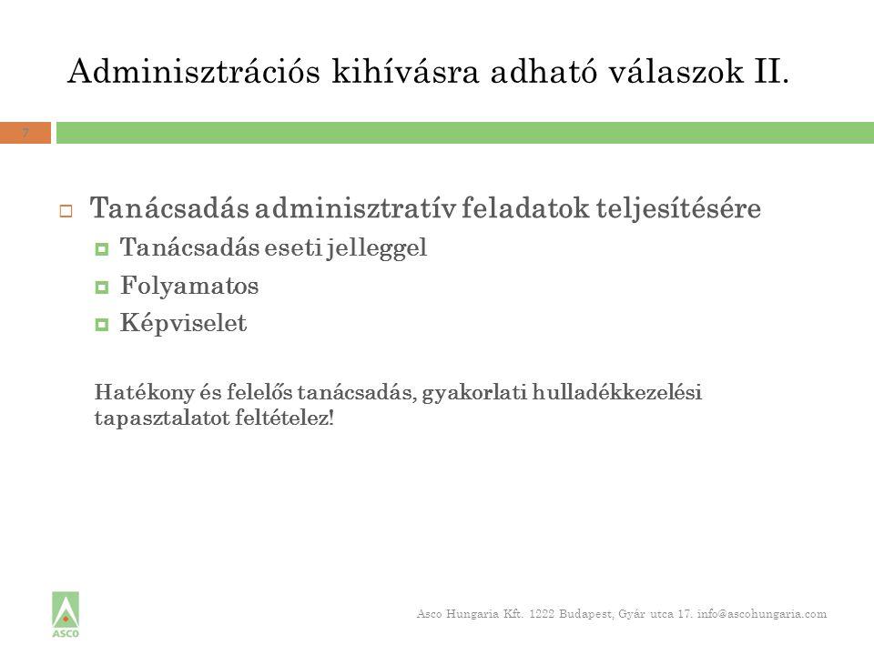 Adminisztrációs kihívásra adható válaszok II.