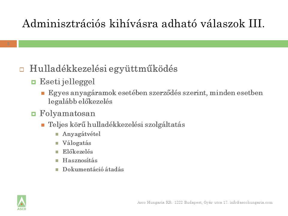 Adminisztrációs kihívásra adható válaszok III.
