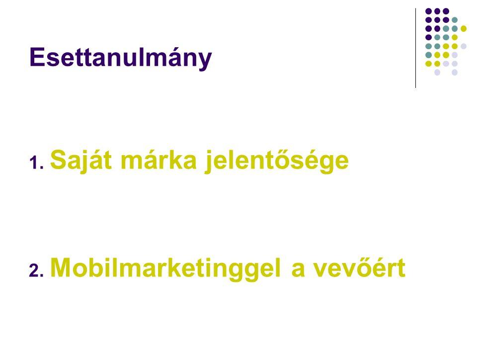 Esettanulmány 1. Saját márka jelentősége 2. Mobilmarketinggel a vevőért