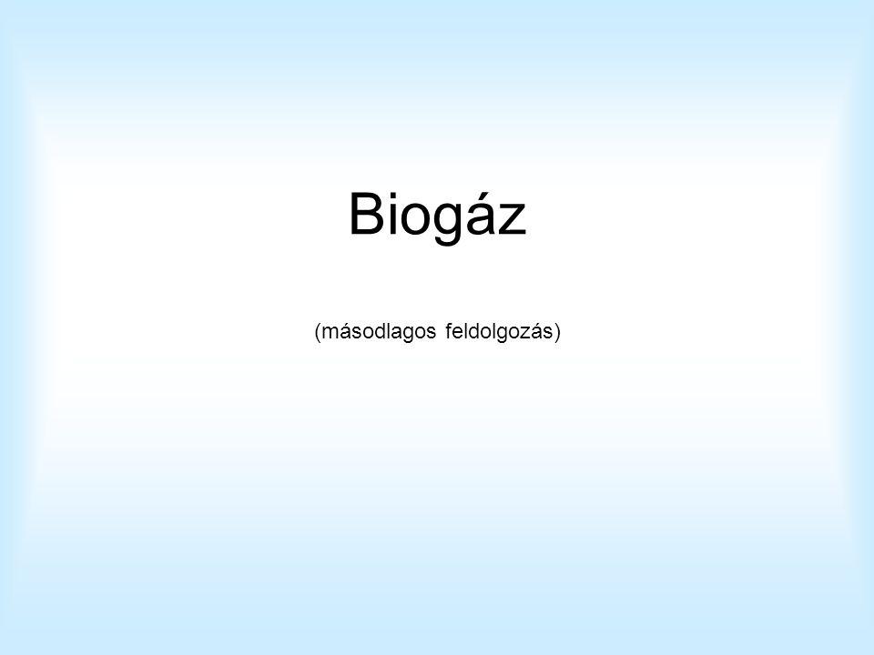 Biogáz (másodlagos feldolgozás)