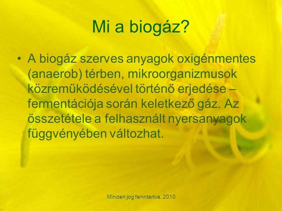Minden jog fenntartva, 2010 Mi a biogáz.