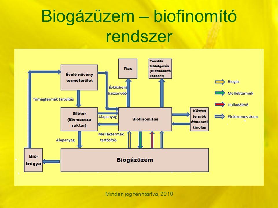 Biogázüzem – biofinomító rendszer Minden jog fenntartva, 2010