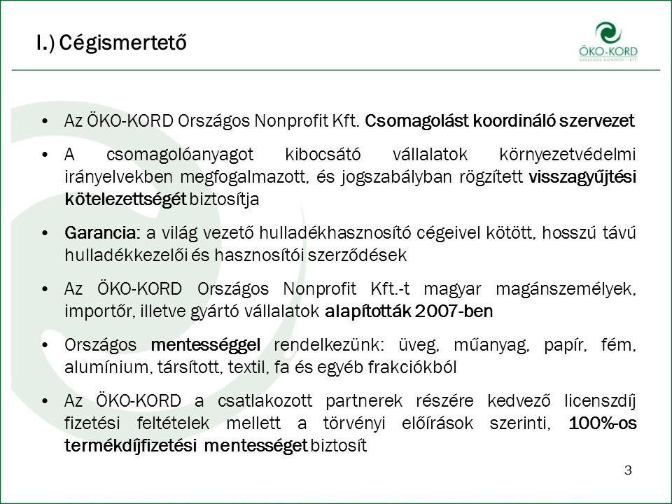 33 I.) Cégismertető Az ÖKO-KORD Országos Nonprofit Kft.