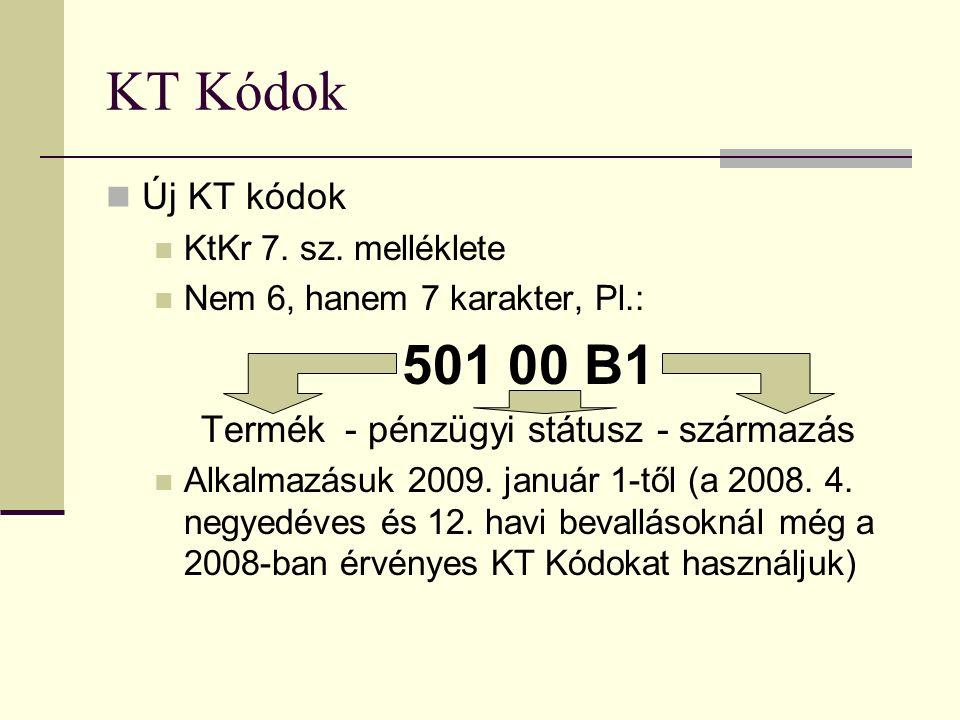 KT Kódok Új KT kódok KtKr 7. sz.