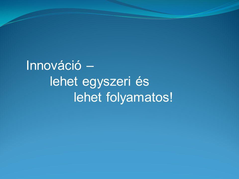 Innováció – lehet egyszeri és lehet folyamatos!