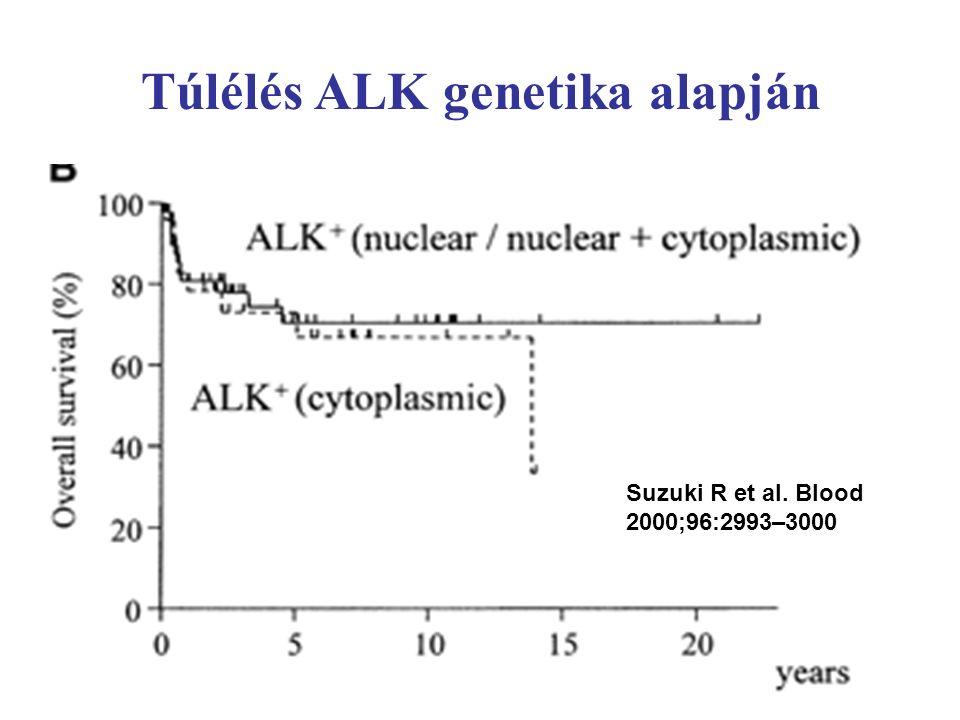 Túlélés ALK genetika alapján Suzuki R et al. Blood 2000;96:2993–3000