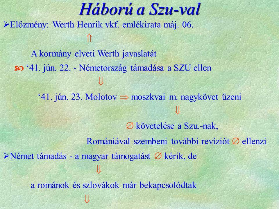 Háború a Szu-val  Előzmény: Werth Henrik vkf. emlékirata máj.