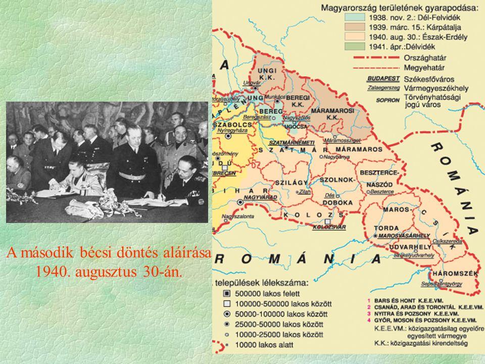 A második bécsi döntés aláírása 1940. augusztus 30-án.