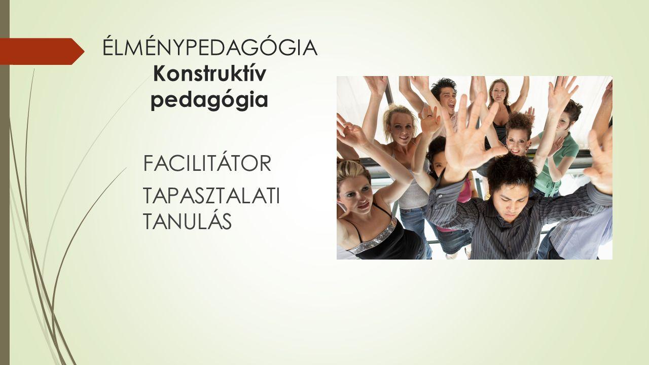 ÉLMÉNYPEDAGÓGIA Konstruktív pedagógia FACILITÁTOR TAPASZTALATI TANULÁS