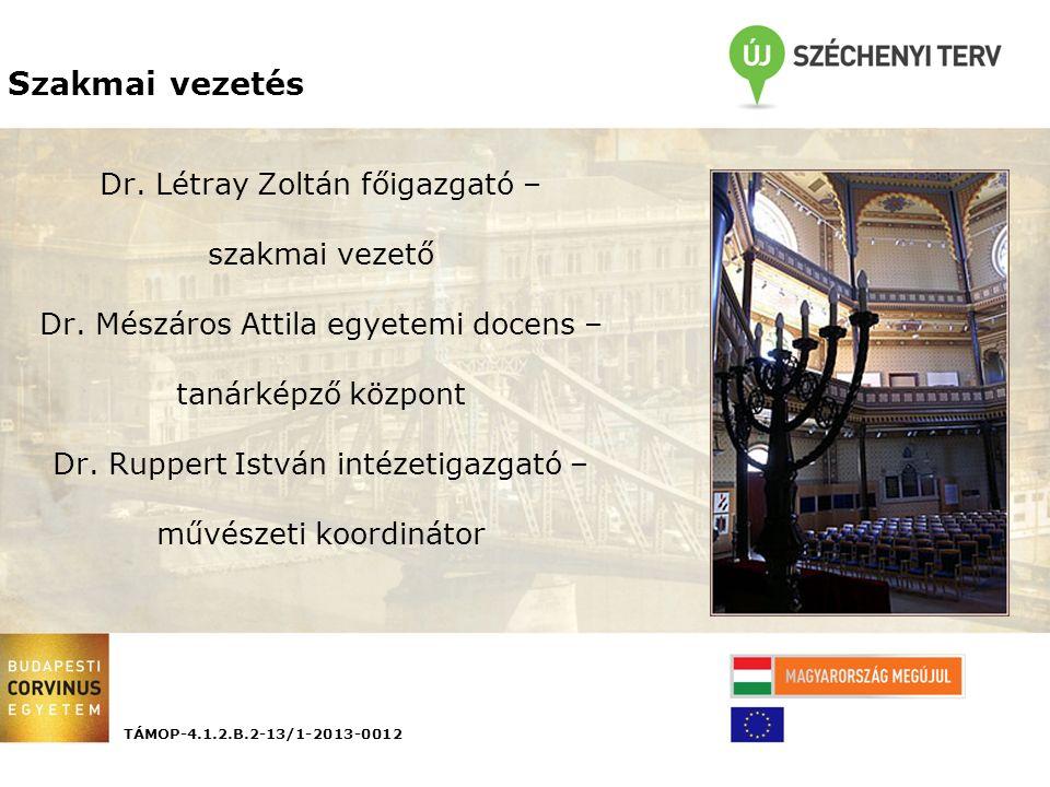 Dr. Létray Zoltán főigazgató – szakmai vezető Dr.