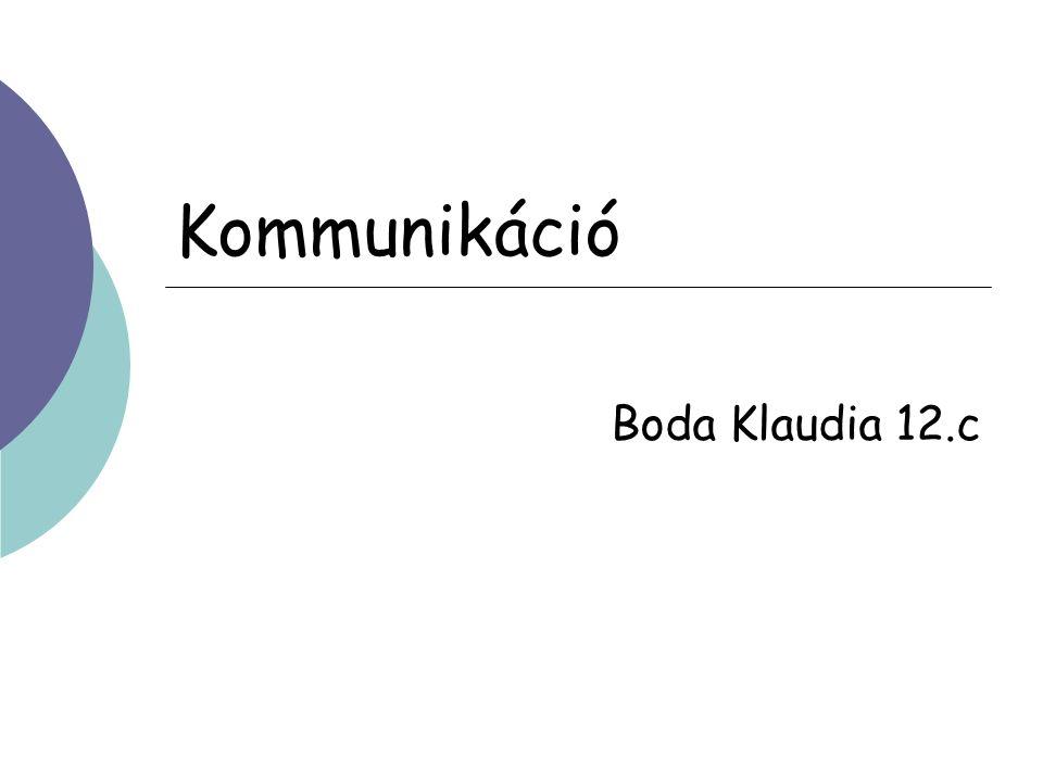 Kommunikáció Boda Klaudia 12.c