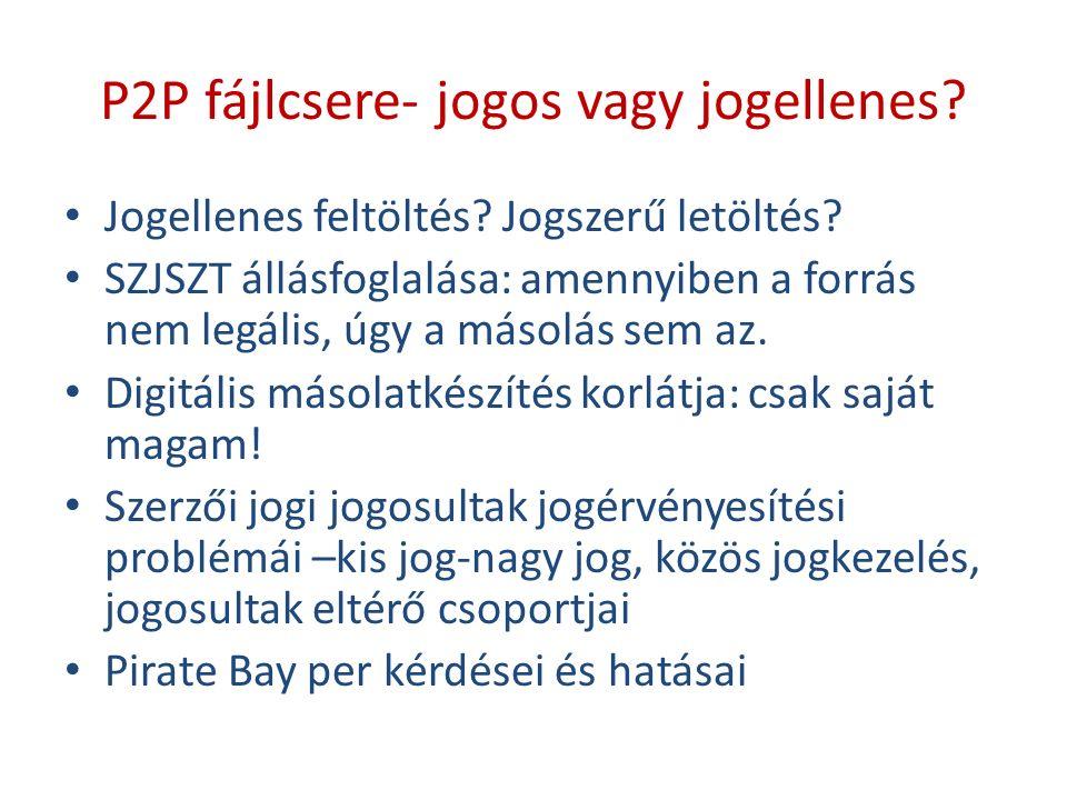 P2P fájlcsere- jogos vagy jogellenes. Jogellenes feltöltés.