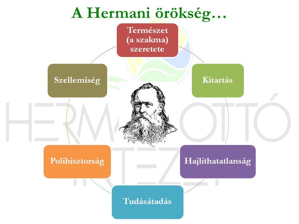 Természet (a szakma) szeretete KitartásHajlíthatatlanságTudásátadásPolihisztorságSzellemiség A Hermani örökség…