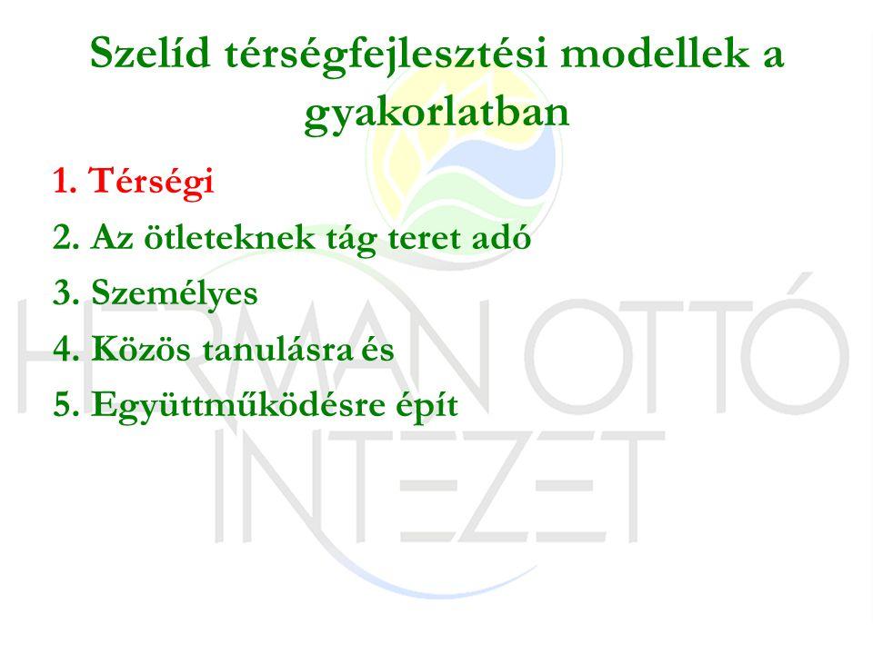 Szelíd térségfejlesztési modellek a gyakorlatban 1.