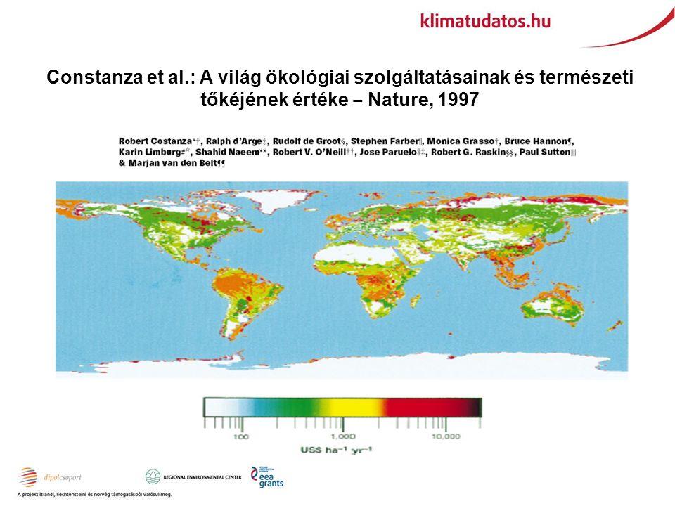 Constanza et al.: A világ ökológiai szolgáltatásainak és természeti tőkéjének értéke ‒ Nature, 1997