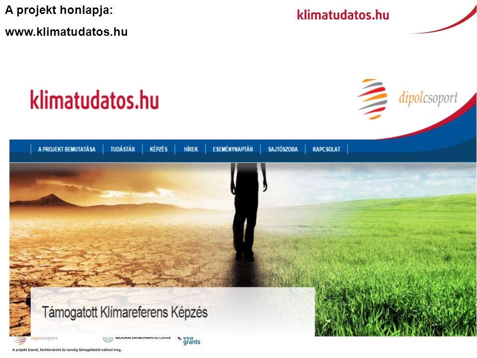 A projekt honlapja: www.klimatudatos.hu