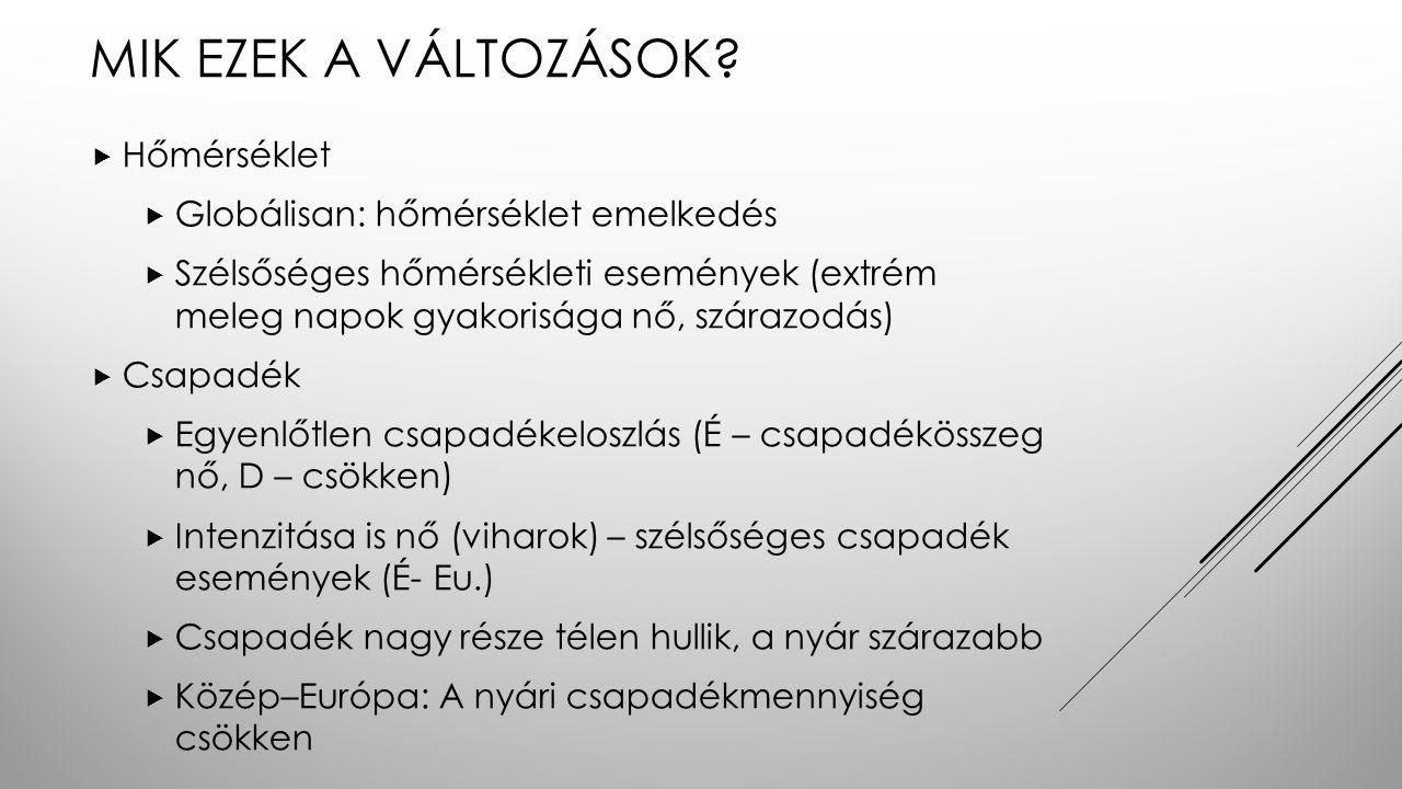 MIK EZEK A VÁLTOZÁSOK.