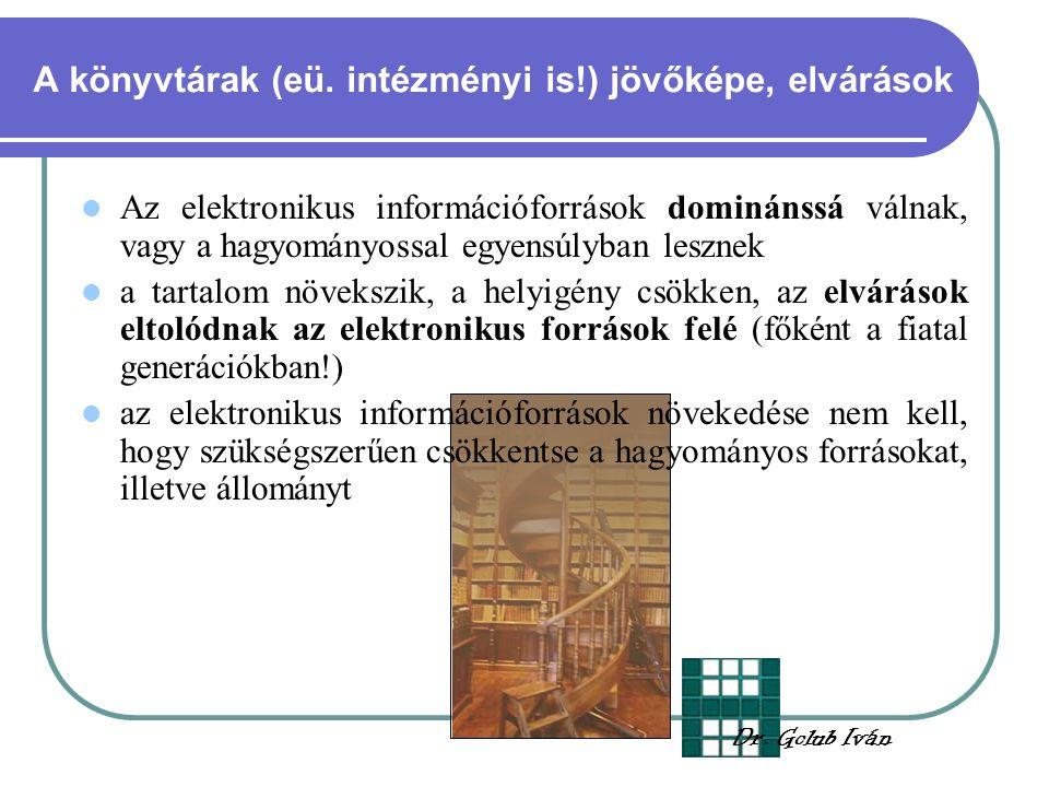 A könyvtárak (eü.