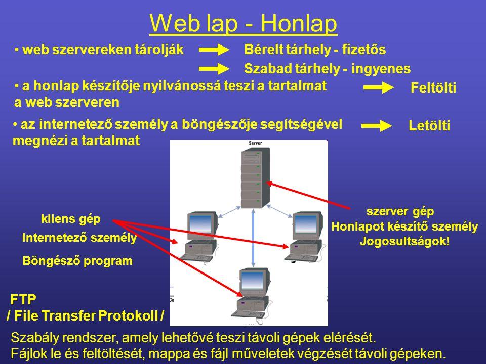 Web lap - Honlap Bővítmények - kiegészítők : speciális kép formátumok speciális multimédia fájlok Kis programok, amelyek letölthetők és telepíthetők.