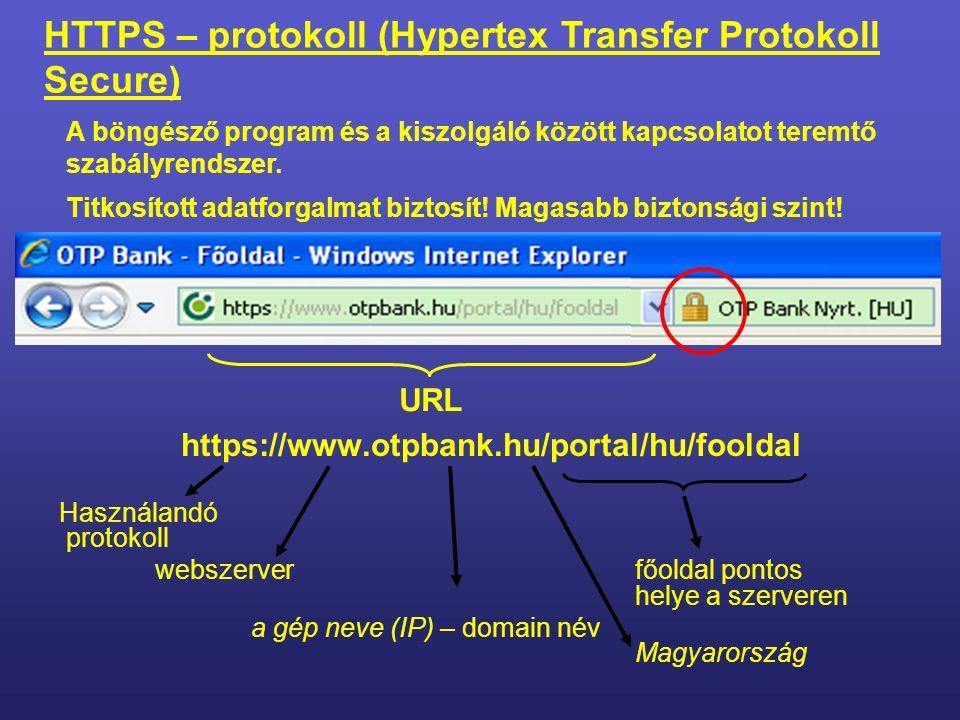 http://www.nemesvamosiskola.hu Használandó protokoll webszerver a gép neve (IP) – domain név Magyarország HTTP - protokoll (Hypertex Transfer Protokoll) A címsorban található.