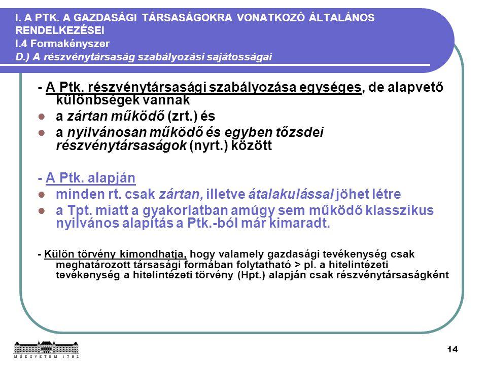 14 I. A PTK.