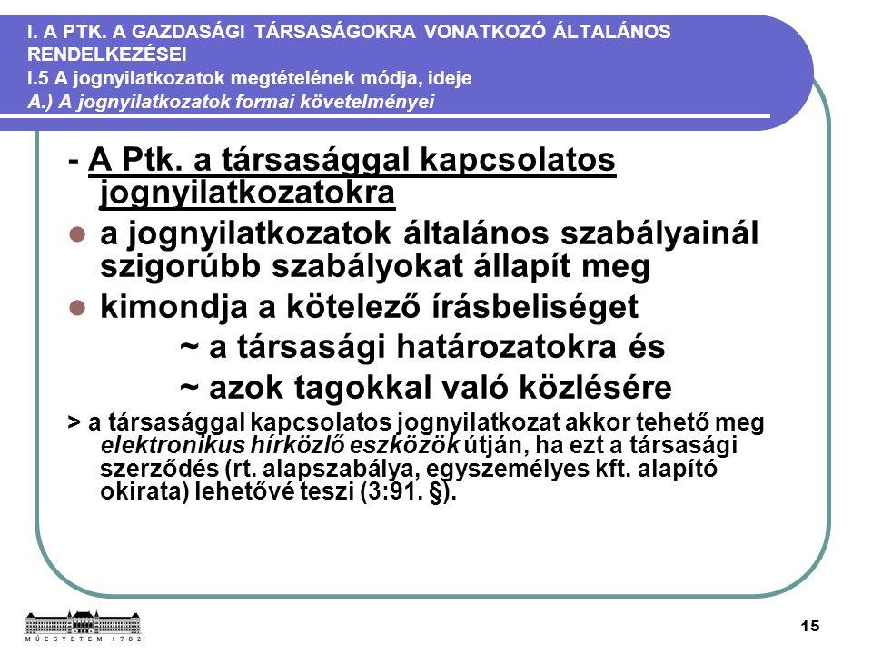 15 I. A PTK.