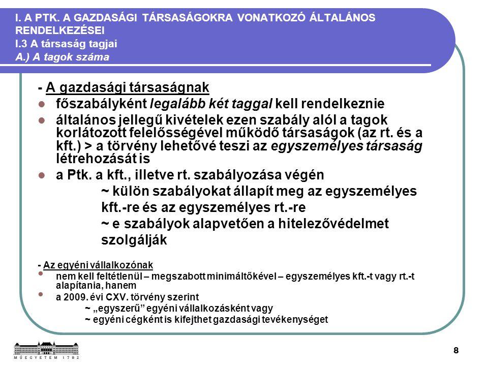 8 I. A PTK.