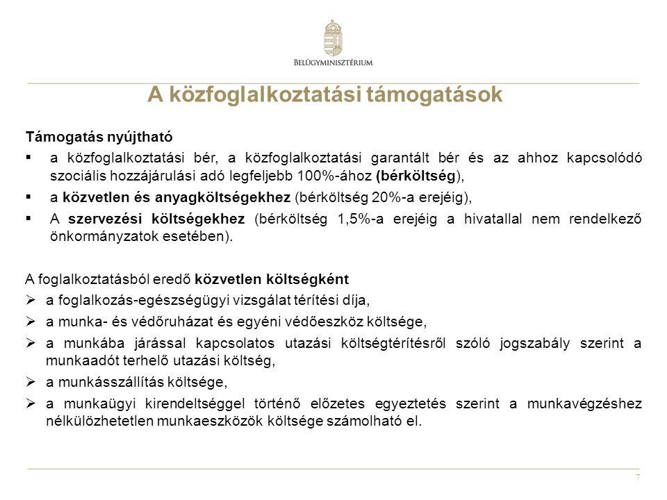 8 Erdőgazdálkodók a közfoglalkoztatásban 2011.évi CVI.