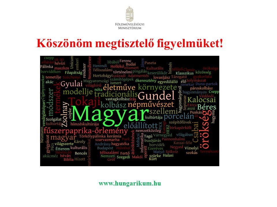 Köszönöm megtisztelő figyelmüket! www.hungarikum.hu