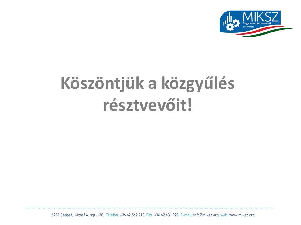 scapackaging.hu 32 Országos Karbantartási Felmérés Előterjesztő: Dr.
