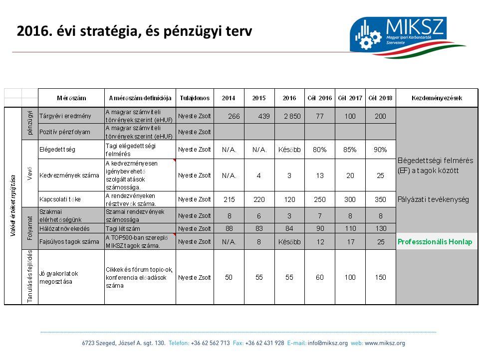 scapackaging.hu 15 2016. évi stratégia, és pénzügyi terv