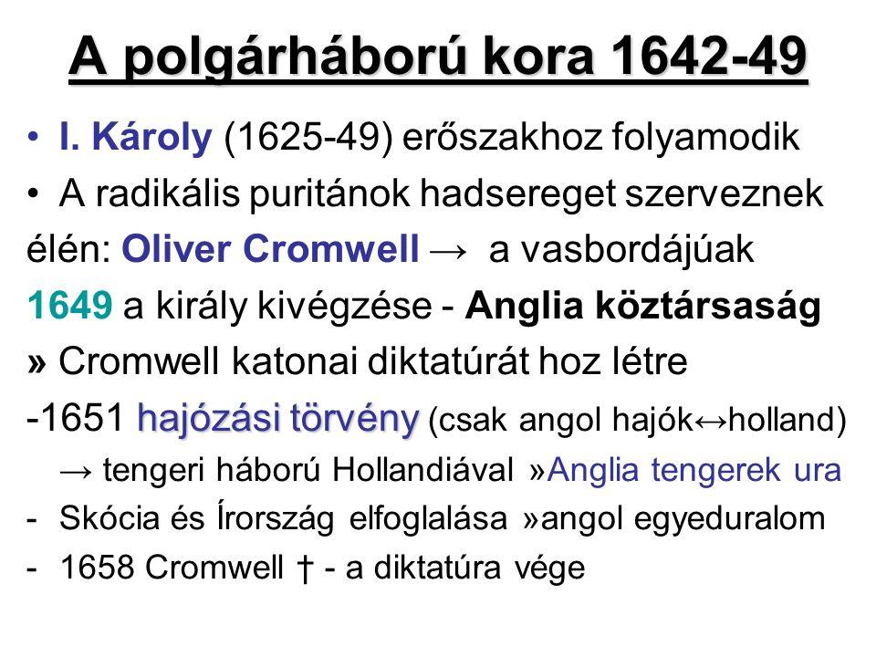 A polgárháború kora 1642-49 I.