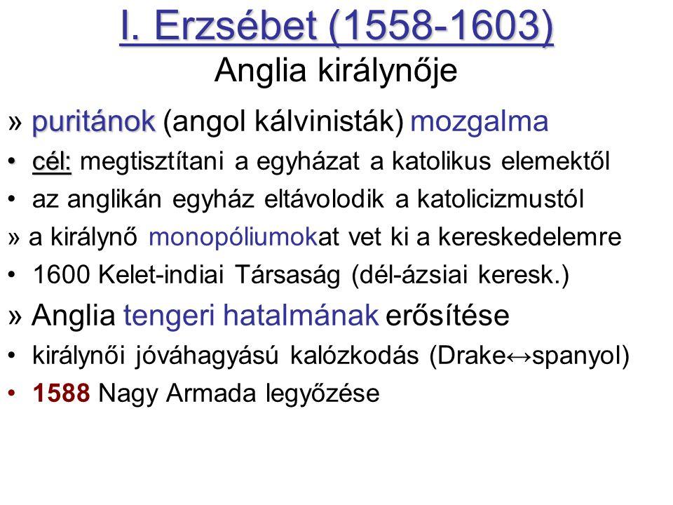 I. Erzsébet (1558-1603) I.