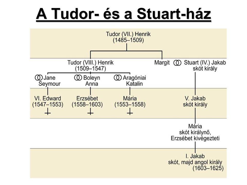A Stuart dinasztia Angliában A Stuart dinasztia Angliában (A Jakabok és Károlyok kora) Stuart-ház 1603 (Erzsébet †) Tudor-ház » Stuart-ház A Stuartok célja az abszolutizmus folytatása A parlamentet mellőzik → nyílt egyeduralom A katolicizmus erősítése ↔ anglikán egyház Monopóliumok bővítéseKövetkezmények: → A puritánok és a parlament ellenálltak a királynak → Skót felkelés 1638 → a királynak pénzre, így a parlamentre van szüksége