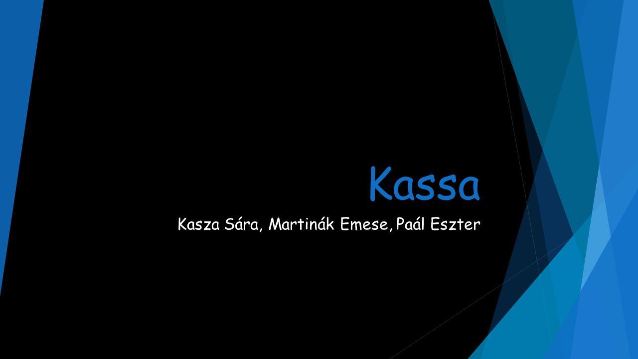 Kassa Kasza Sára, Martinák Emese, Paál Eszter