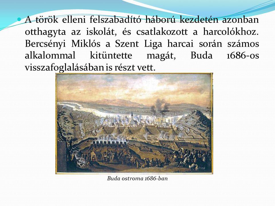 A Bercsényiek 1687.szeptember 14-én érdemeik elismeréseképpen megkapták a grófi címet.