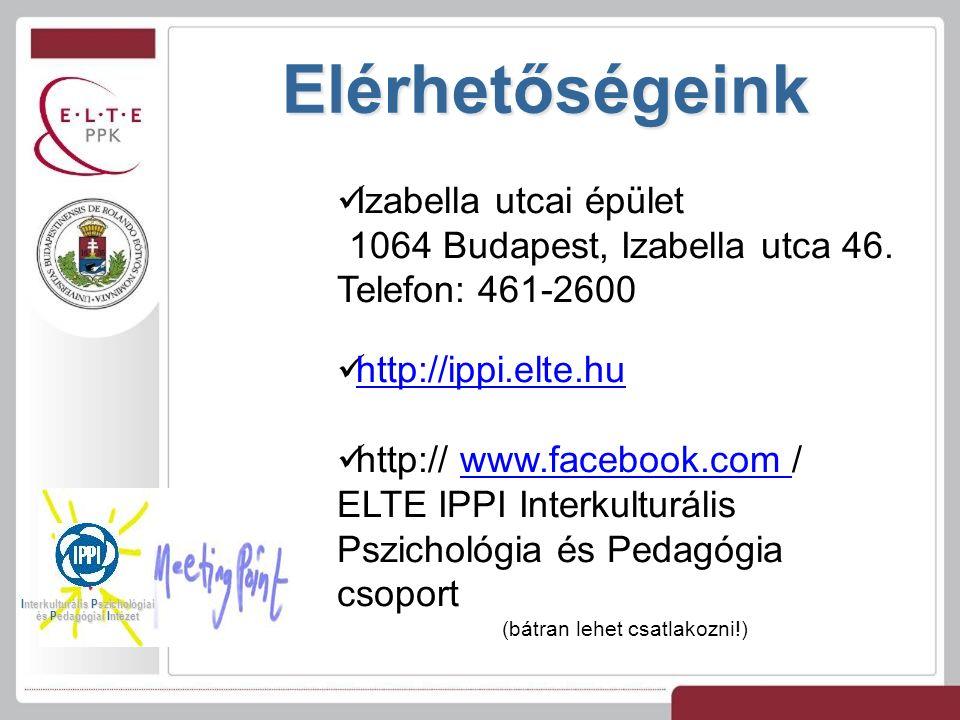 Elérhetőségeink Izabella utcai épület 1064 Budapest, Izabella utca 46.
