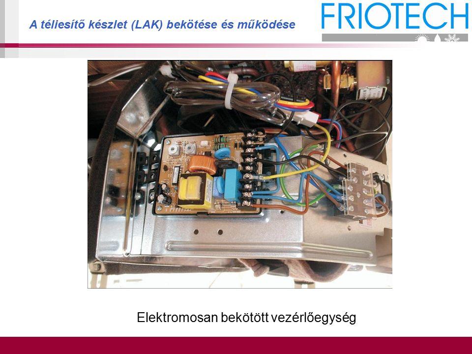 A téliesítő készlet (LAK) bekötése és működése Elektromosan bekötött vezérlőegység