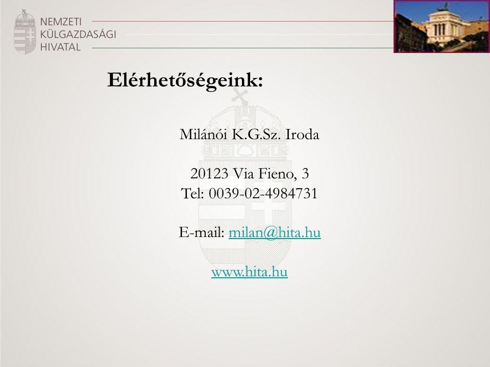 Elérhetőségeink: Milánói K.G.Sz.
