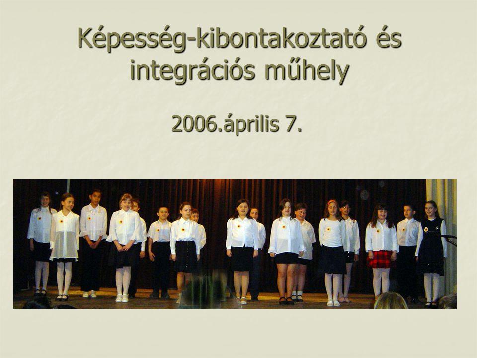 Képesség-kibontakoztató és integrációs műhely 2006.április 7.