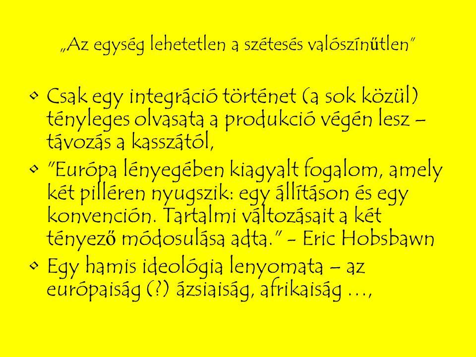 2007 Lisszaboni Szerződés EU reform: átláthatóság, elszámoltathatóság, demokratizálás, közös fellépés Minősített többségi szavazások számának növelése, pillérrendszer megszűntetése Új tisztségek: Tanács elnöke, EU külügyi és biztonságpolitikai főképviselője EU ALKOTMÁNYA helyett lépett életbe (Fro., Íro., Cseho.