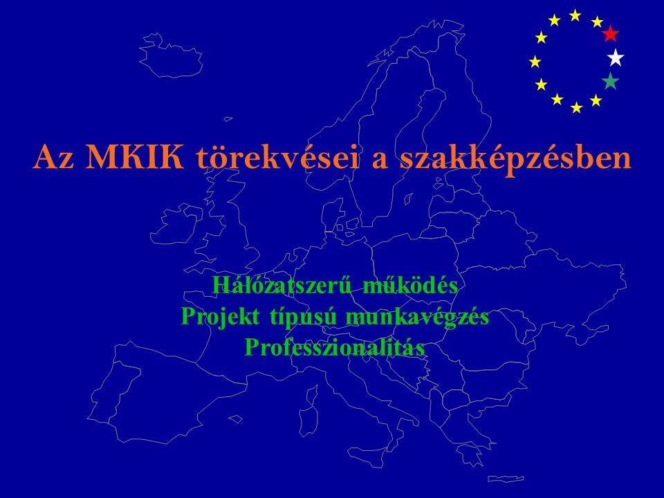 Az MKIK törekvései a szakképzésben Hálózatszerű működés Projekt típusú munkavégzés Professzionalitás