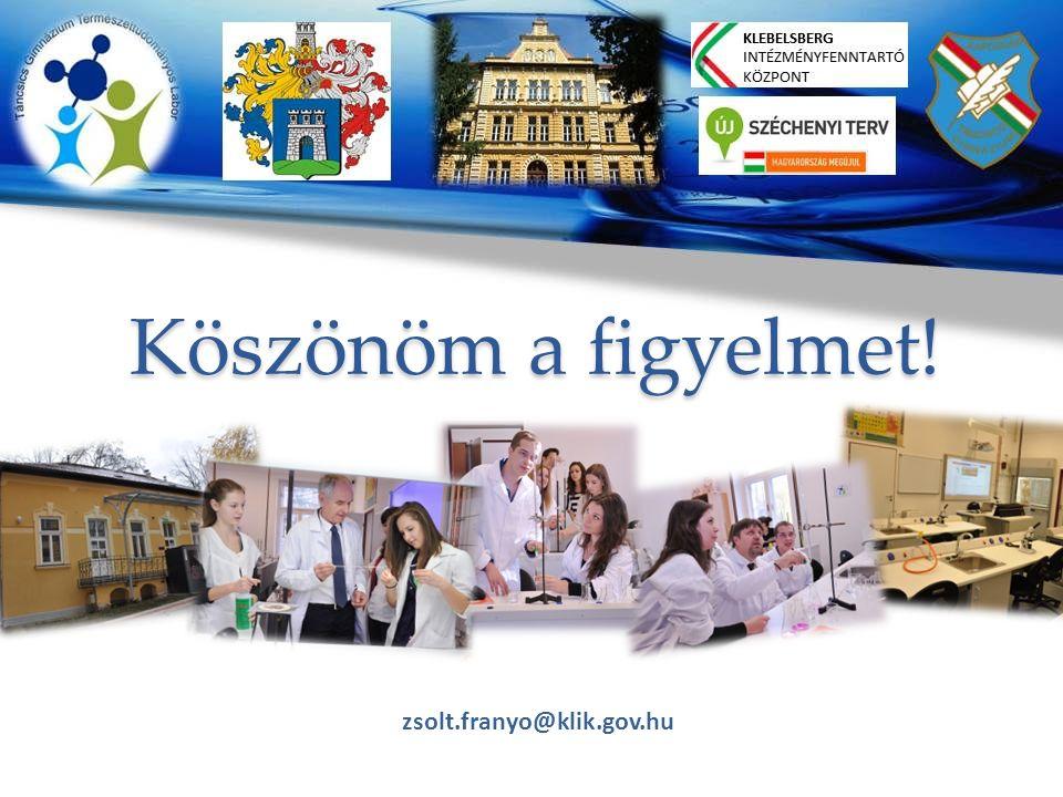 Köszönöm a figyelmet! zsolt.franyo@klik.gov.hu