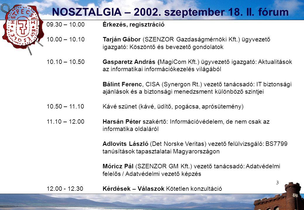 3 NOSZTALGIA – 2002. szeptember 18. II.