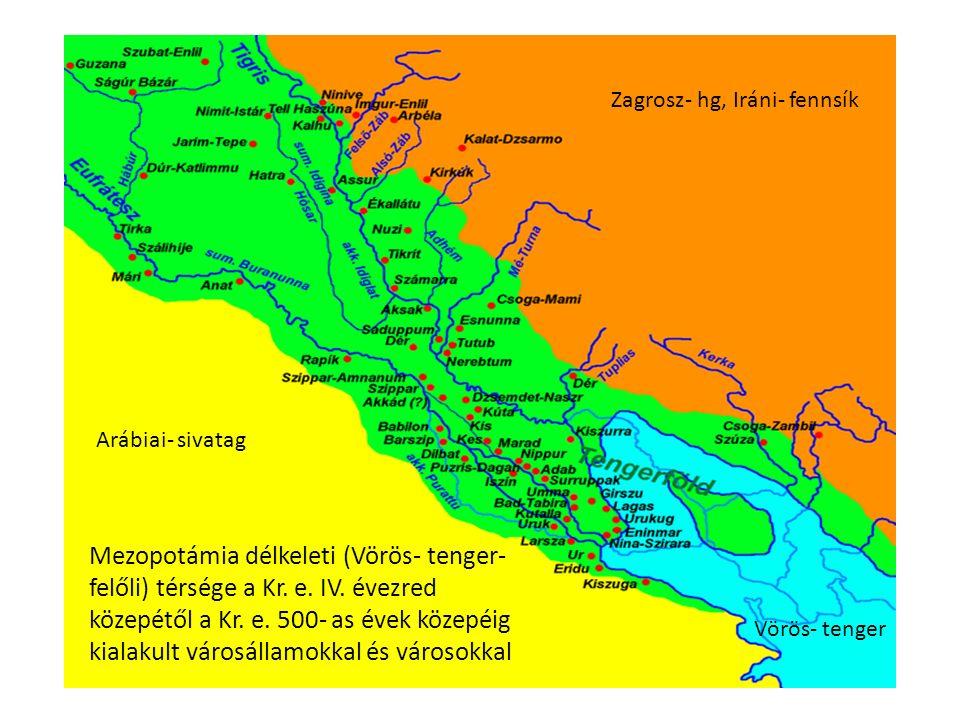 Mezopotámia délkeleti (Vörös- tenger- felőli) térsége a Kr.
