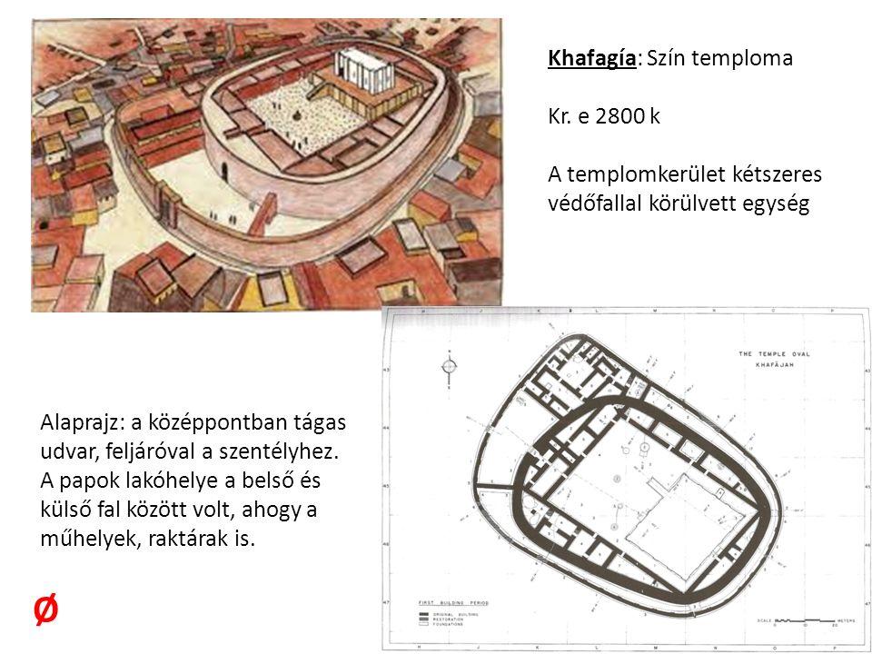 Khafagía: Szín temploma Kr.