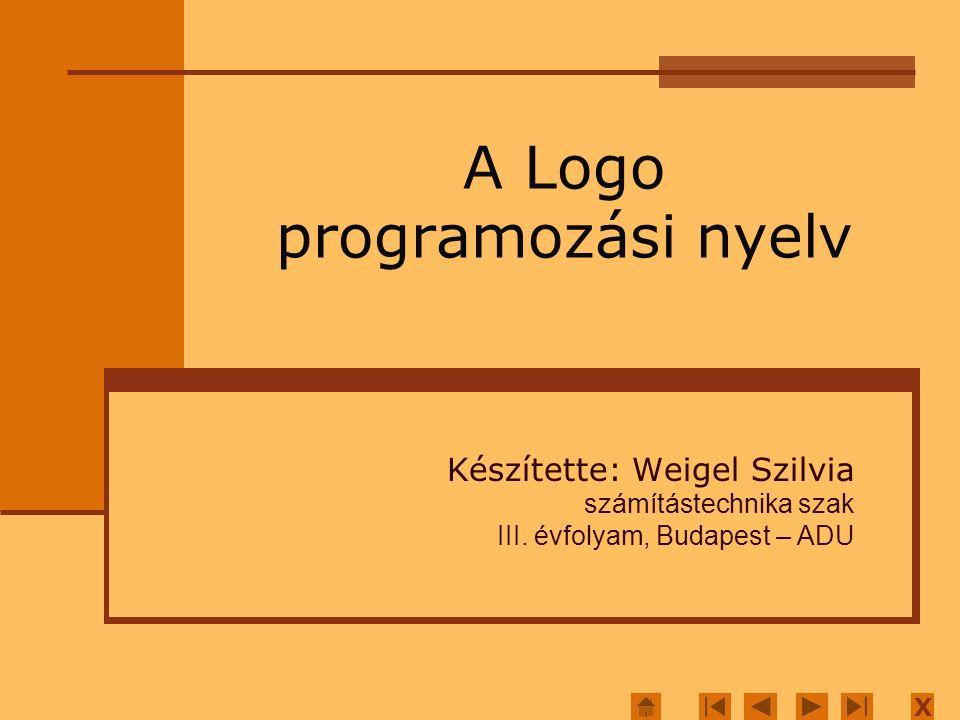 Készítette: Weigel Szilvia számítástechnika szak III.