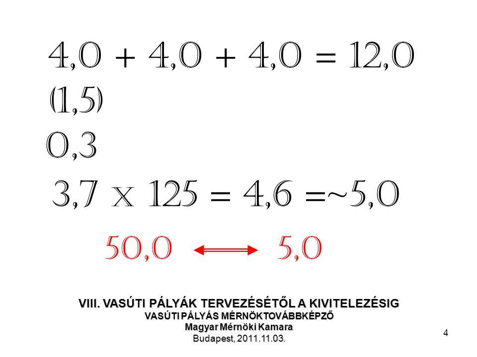 4 (1,5) 0,3 3,7 x 125 = 4,6 =~5,0 4,0 + 4,0 + 4,0 = 12,0 5,050,0 VIII.