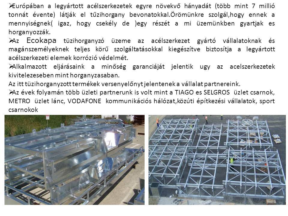 - Az acélszerkezetek előállításához minőségileg garantált alapanyagokat dolgozunk fel.